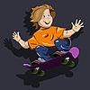 Vector clipart: boy on skateboard