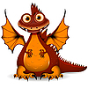Vector clipart: red Dragon