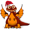 Vector clipart: dragon in red cap