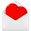 Vector clipart: heart in the envelope