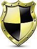 Векторный клипарт: золотой щит