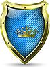Vektor Cliparts: blauer Schild