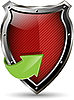 Vector clipart: red shield