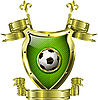 Vector clipart: shield with soccer ball