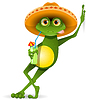 Vector clipart: Frog in hat