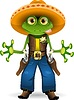 Vector clipart: frog sheriff