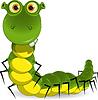 зеленый червяк