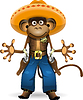Vector clipart: monkey sheriff