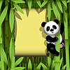 Vector clipart: Panda in jungle