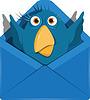 Векторный клипарт: Птица в конверте