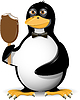 Vector clipart: penguin and ice cream