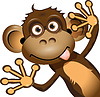 Funny Monkey | Stock Vector Graphics