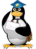 Vector clipart: penguin postman