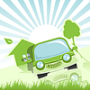Vector clipart: Green Car