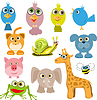 Vector clipart: cartoon animals
