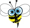 Vector clipart: angry bee