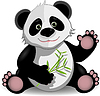 Funny panda | Stock Vector Graphics