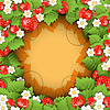 Vector clipart: Strawberry Background
