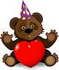 Vector clipart: festive bear
