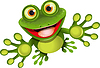 Vector clipart: happy frog