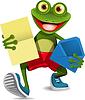 Frosch mit Brief