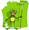 Векторный клипарт: Лягушка художника