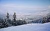 Photo 300 DPI: Ski slope and winter mountains panorama