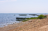 발트 해의 모래 해안   Stock Foto