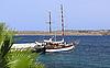 Photo 300 DPI: Sailing boat yacht in Mediterranean sea