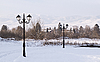 Фото 300 DPI: Зимний пейзаж фонари остроумие