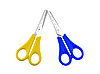 Two of scissors with plastic handles | Stock Foto