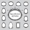 Vector clipart: oval frames