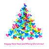 Vector clipart: Christmas Tree of Hearts