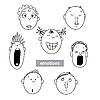 Vector clipart: Emotions set