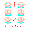 Vector clipart: exercises for eyes