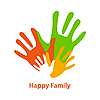 Happy family | Stock Vector Graphics