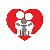 Vector clipart: family love