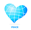 Vector clipart: peace world un form of heart