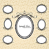 Vintage oval frames | Stock Vector Graphics
