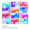 Vector clipart: set of abstract backgrounds