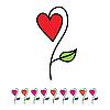 Векторный клипарт: цветок любви