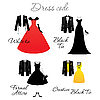 Vector clipart: dress code