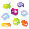 Vector clipart: text bubbles