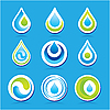 Vector clipart: water drop icons
