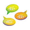Vector clipart: speech bubbles