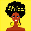 Vector clipart: african girl