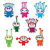 Vector clipart: aliens