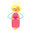 Vector clipart: angel with heart