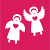 Two angels | Stock Vector Graphics