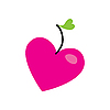 Vector clipart: apple heart
